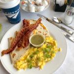 Amtrak-cheese-quesadillas-eggs-tomatillo-sauce