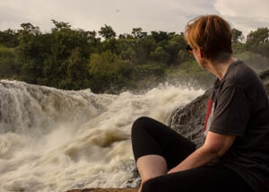 sitting by the falls BY JACKSON
