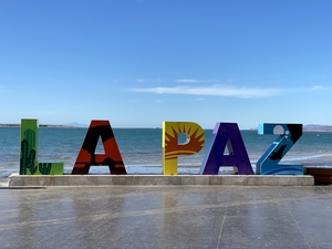 La Paz sign, by Anderson