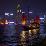 Junk in Hong Kong Harbour