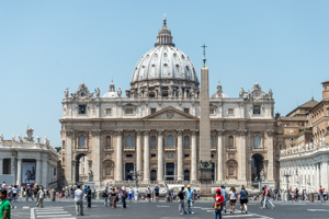 St Peter's Basilica in Vatican City, Italy