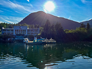 view_of_spirit_bear_lodge_from_the_water_taxi