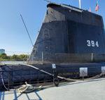 A Turkish Submarine Floats on the Little Rock Arkansas Riverfront