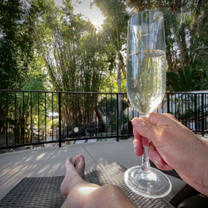 sparkling wine paradise falls glen ivy hot springs BY DIEBOLT PRICE